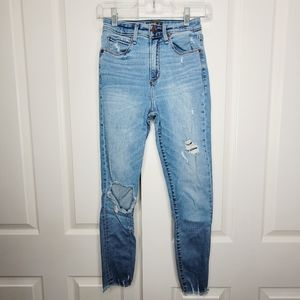 Abercrombie & Fitch Rip High Rise Skinny Jean